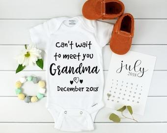 Baby Announcement to Grandma Onesie / Personalized Baby Onesie/ Baby Announcement Onesie / personalized pregnancy reveal / baby announcment