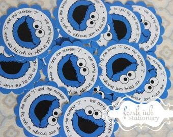 Cookie Monster Personalized Stickers