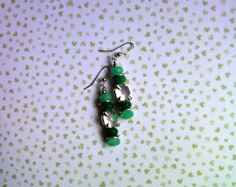 Green Shamrock Earrings(1926)