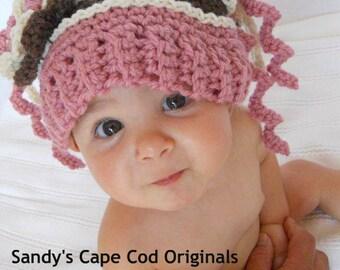 Newborn Baby Halo hat Crochet Pattern pdf 352