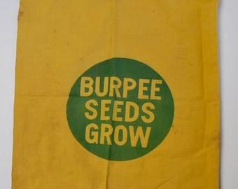 Vintage Burpee Seed Bag: Vintage Garden Decor, Advertising Sack