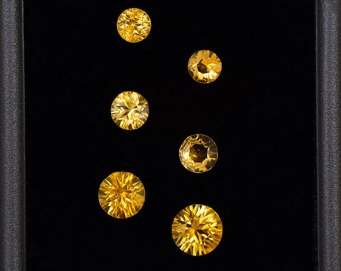 Fine Yellow Orange Sunset Tourmaline Gemstone Set from Tanzania 1.89 tcw.