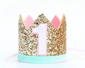 1st Birthday Outfit Girl | 1st Birthday Girl Outfit | Baby Girl Birthday Decor | First Birthday Crown | 1st Birthday Crown