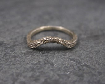 Antique Art Deco Sterling Wedding Band Size 4