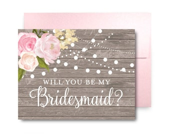 Bridesmaid Proposal Card Will You Be My Bridesmaid Card Bridesmaid Maid of Honor Gift Matron of Honor Brides Man Flower Girl #CL138