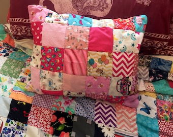 Pink themed baby family patchwork cushion //baby gift// sofa cushion