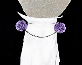 Open Rose Sweater Clips