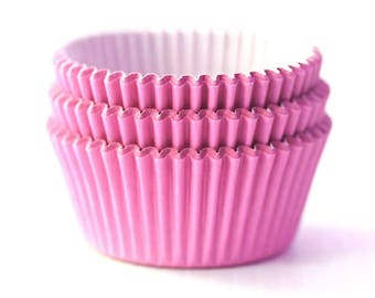 Solid Pink Cupcake Liners