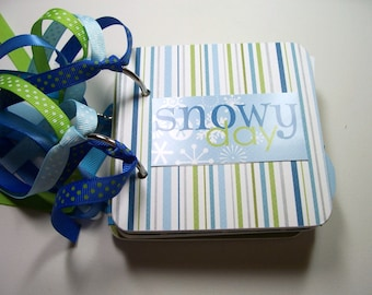 Snowy Day Mini Album, Snowy Scrapbook, Snowy Photo Album, Snowy Brag Book, Snowy Day Album, Snowy Mini Album, Snowy