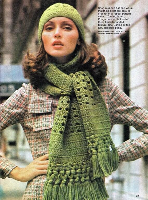Crochet womens quick easy crochet hat scarf pattern dt1010fo