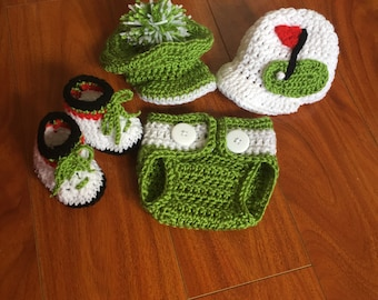 Three Piece Baby Golfer Outfit - Choice of Hat!
