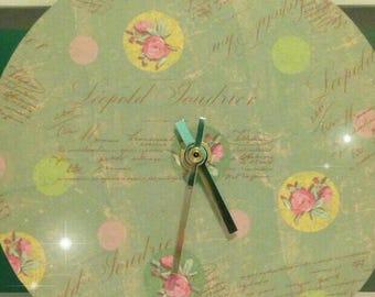 Handmade Shabby Chic Style Clock