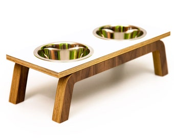 """Mid Century Modern Pet Feeder 