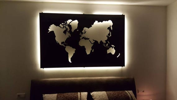 World map metal wall art 16m 1m large customized size gumiabroncs Gallery
