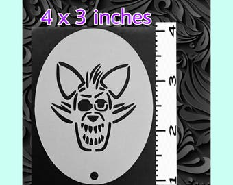 Scary Fox Face Painting Stencil