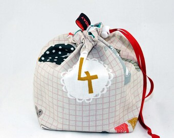 Mini Project Bag - Letters and Numbers