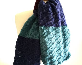 scarf hand knitted vegan friendly