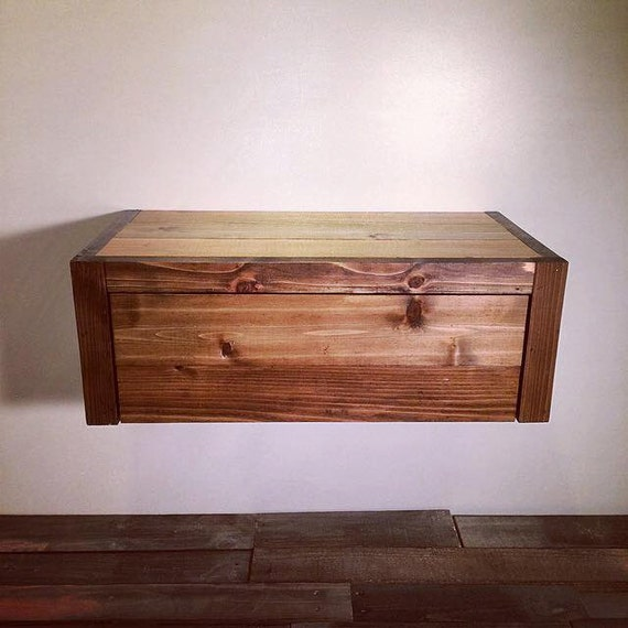 Floating Barn Wood Style Bedside Table End Table