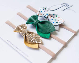 MINI St. Patricks Day Bow Headbands