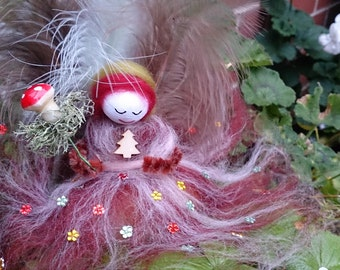 Beautifully made, needle felted fairy. Tianna - Fairy Felt Queen