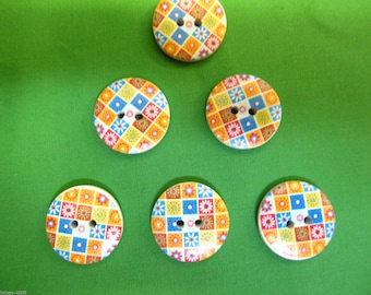 Round 2 Hole Abstract Flower Sewing Buttons Scrapbooking 20 mm x 5 Buttons