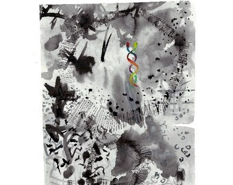 Small abstract watercolor - PRINT