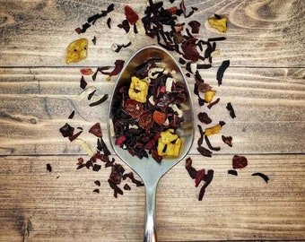 Pina Colada Tea - Pineapple, Coconut, Apples, Rose Hips and Hibiscus Creates an Exotic and Intoxicating Tea Experience