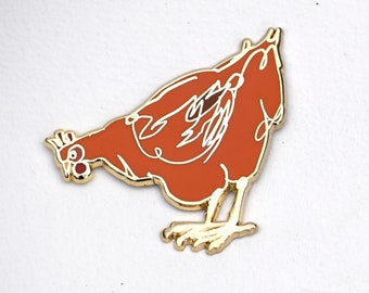 Aretha Chicken Lapel Pin, Who Doesn't Love A Chook