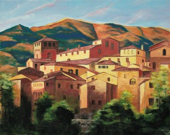 Tuscan Rooftops Giclee Print