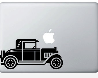 Classic Car laptop DECAL- macbook iPad computer- Gadget Art / Accessory