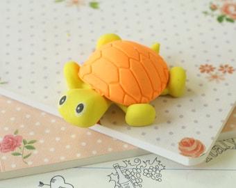 Orange & Yellow Little TURTLE Eraser
