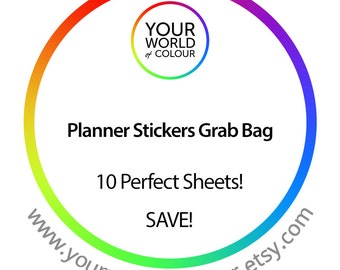 10 Sheets of Planner Stickers For use with Erin Condren, Filofax, Happy Planner, Kikki K, Tns, organiser, journal, NO COUPONS PLEASE