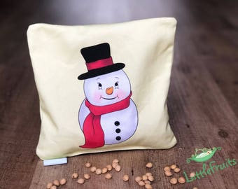 Snowman Baby Gift, Cherry Pit Pillow, Microwaveable Heating Pad, Snowman Gifts, Baby Christmas Gift Idea, Colics in Babies, Baby Heat Pack