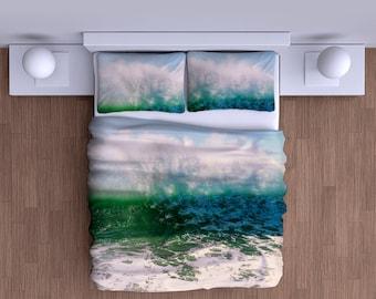 Crashing Waves Duvet Cover  - Soft Bedding Comforter Duvet