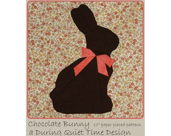 Chocolate Bunny Paper Pieced Pattern
