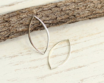 Sterling Silver Marquise Links  -- Two Pieces... Large Version HBS2429