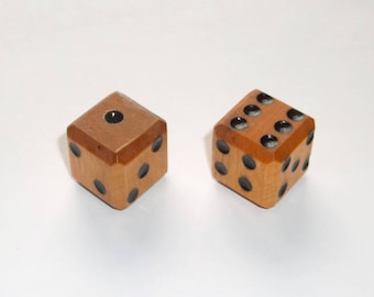 Wooden Dice - Imperfect Orange Pair