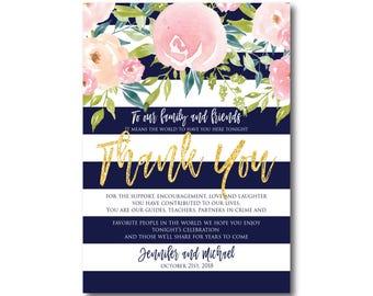 PRINTABLE Thank You Card, Printable Wedding Thank You Card, Wedding Thank You, Thank You Card, Thank You, Wedding Card #CL318