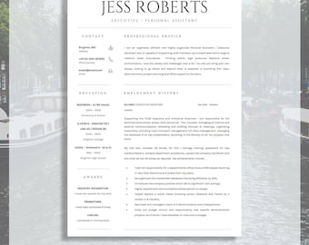 Professional Curriculum Vitae | Professional CV / Resume Template For MS  Word + Cover Letter |
