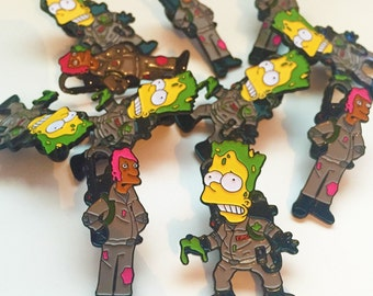 The Simpsons x Ghostbusters Pin Badge Set