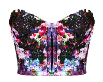 Spring Flower Bustier Size S