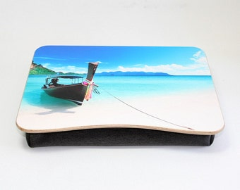 Breakfast Tray / Pillow Tray / Wooden Laptop Bed Tray / Ipad Tray / Serving Tray / Laptop Stand Beach