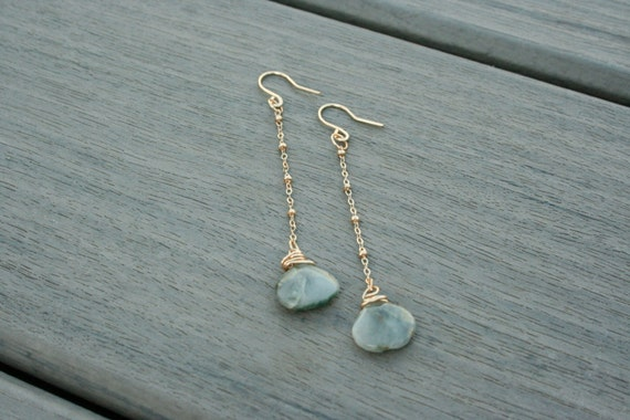 Gold and Faceted Quartz Earrings // Bridesmaid Gift // Gifts for Her // Wedding // Stocking Stuffer