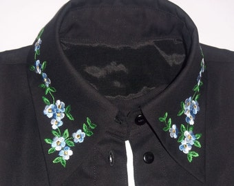 Bib collar detachable blouse