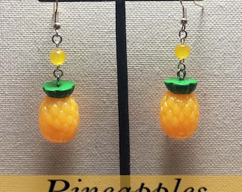 Pinup Rockabilly Pineapple Earrings