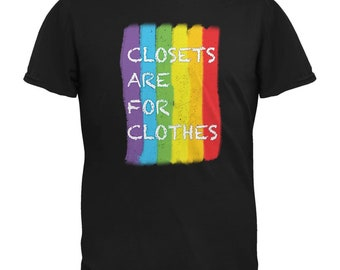 Gay Pride LGBT Closets Are For Clothes Black Adult T-Shirt