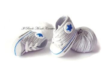 Crochet Baby Booties, Crochet Baby Converse, Crochet Baby Shoes