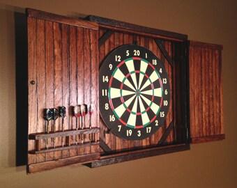Rustic Dartboard Cabinet   Reclaimed Barn Wood, Home Decor, Home U0026  Living MADE TO ORDER