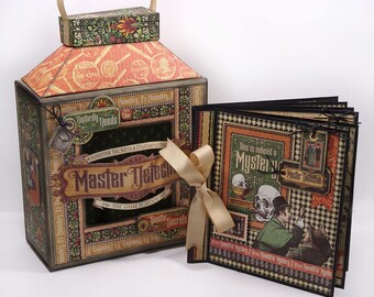 Graphic 45 - Master Detective - Lantern and Nesting 6x6 Album Class Kit