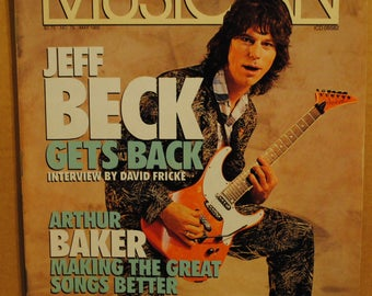Jeff Beck Jimmy Page Arthur Baker Ry Cooder May 1985 Musician magazine